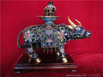 景泰蓝蓝牛-收藏网