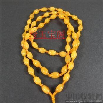 波兰老蜜蜡挂绳玉器高档精美挂绳-中国收藏网