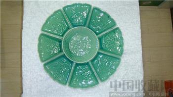 70-80年代河南禹州九子青瓷盘(九件套)-收藏网