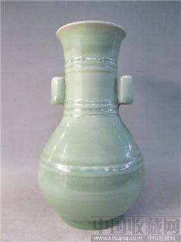 龙泉双耳瓶-收藏网