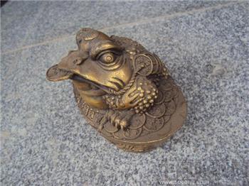 铜金蟾造像-收藏网