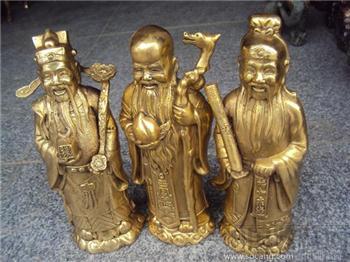 铜鎏金三星造像-收藏网
