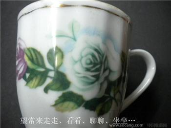 旧藏粉彩金边花卉小碟一只中国景德镇*包平 挂*-收藏网