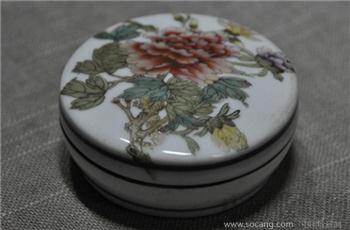 粉彩印泥盒-收藏网