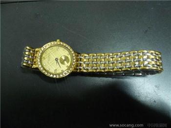 瑞士18K金表壳镶钻江诗丹顿女式腕表(香港)-收藏网
