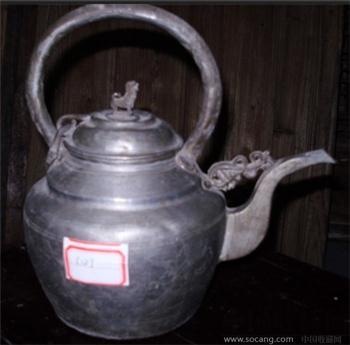 清代刻花酒壶-收藏网