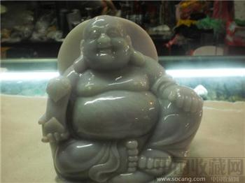 翡翠紫罗蓝笑面弥勒佛像一尊-收藏网