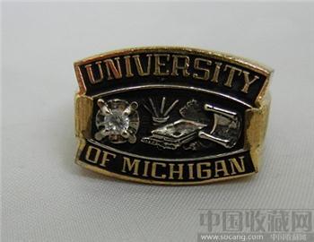 美国密歇根大学纪念戒指-收藏网