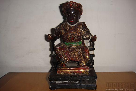 木雕佛像一尊(高16cm,底座9cm)
