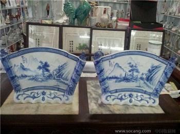 青花瓷板----庆香港回归参赛作品-收藏网