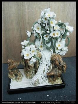 名师王龙才美术陶瓷作品《水仙》-收藏网
