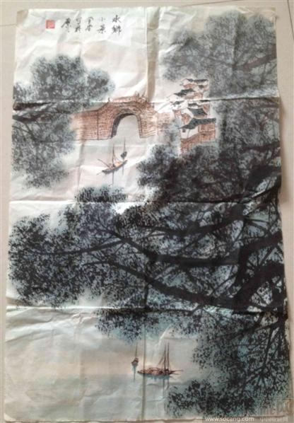 张登堂现代国画作品-菩提树艺术馆-中国收藏网