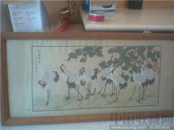 陈之佛的松龄鹤寿图-收藏网