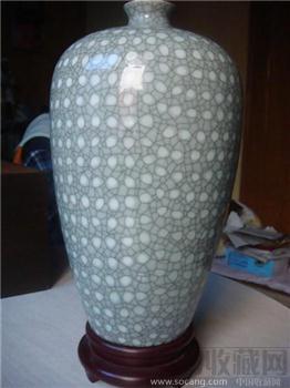 中国工艺美术大师—毛正聪先生05年做哥弟结合珍珠梅瓶-收藏网