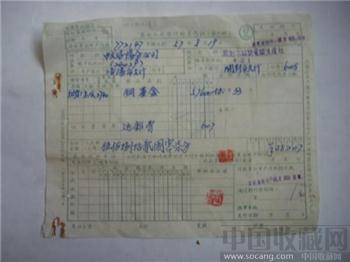 人民銀行1957异地托收承付结算目录表丶凭证-收藏网