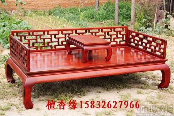 古典罗汉床/红木围子床/明清卧室家具价格