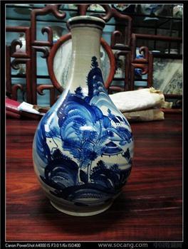 清代青花瓶----不议价 -收藏网
