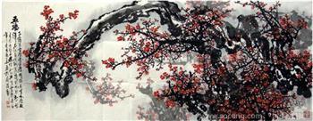 韦兆华·小六尺精品红梅-中国收藏网