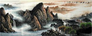 毛一礼·小六尺山水国画-中国收藏网