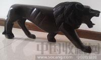 非洲黑檀木雕狮子-收藏网