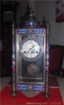 1808年法兰西珐琅彩座钟-收藏网