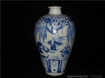 青花梅瓶-收藏网