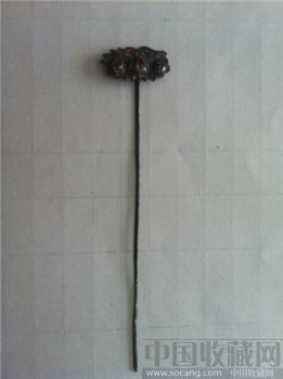 清代银头钗 包老古玩金银器老饰物杂项收藏-收藏网