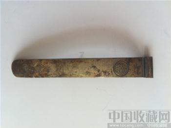 清代银流金头钗 包老古玩金银器老饰物杂项收藏-收藏网