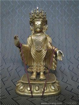 鎏金铜佛 -收藏网