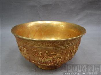 鎏金铜碗  -收藏网