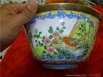 清乾隆画珐琅碗-收藏网