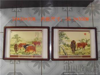 藏文阁:清--老花梨木画框一对(古玩木雕花板瓷器字画绣书雕刻)-收藏网