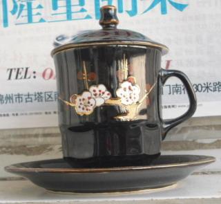 文革   锦州特产  瓷器   一套   梅花  茶杯-收藏网