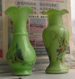 文革早期  老琉璃   鸳鸯对大    花瓶-收藏网