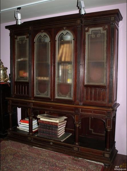 西洋书橱4381/古董家具/欧式家具/巴黎家具/实木家具/古典家具/书房