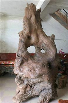古沉木(阴沉木)根抱石大型艺术摆件(自然型)-收藏网