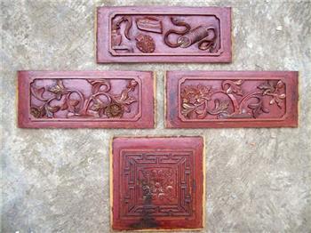 雕花木板:禄 寿 绵 绵 长    (清)-收藏网