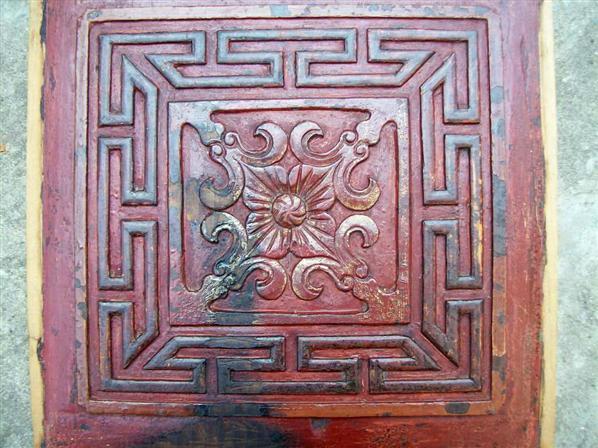 雕花木板:禄寿绵绵长 (清)