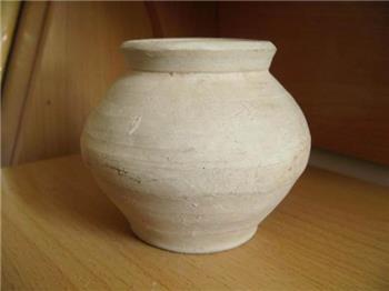 素陶罐一只 -收藏网