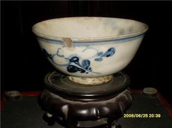 青花花卉纹大碗 -收藏网