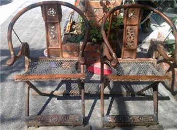 清代老家具交椅-收藏网