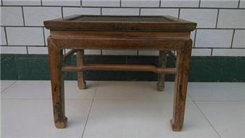 黄花梨马蹄腿方凳-收藏网