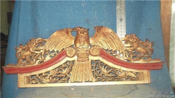 木雕狮子,老鹰,还有四只鸟,雕工一流 -收藏网