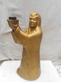 镀金行者武松造型瓷酒瓶一个 -收藏网