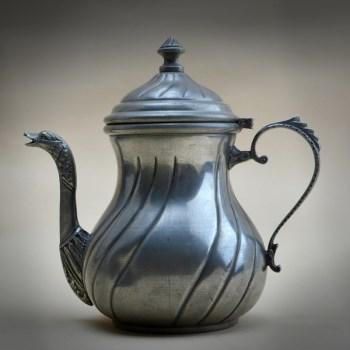 19世纪银锡鹅头嘴咖啡壶-中国收藏网