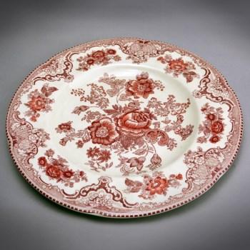 西洋印花花卉装饰盘-收藏网
