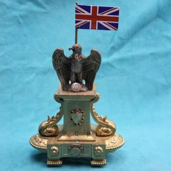 19世纪银鎏金鹰摆件-收藏网