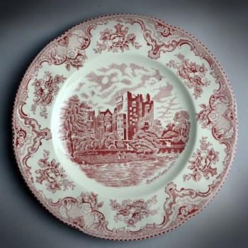 西洋印花建筑装饰盘-中国收藏网