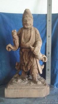 济公木雕像,香樟木非常香 -收藏网