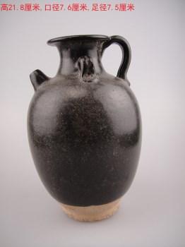 唐代黑釉执壶-收藏网